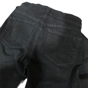 NYDJ Black with Bling Jeans Sz 4P